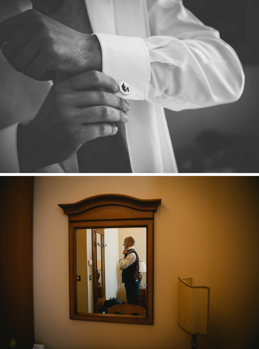 Groom getting ready at the Grand Villa Argentina Dubrovnik