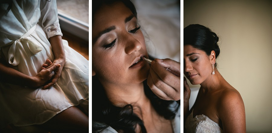 Bride getting ready for her Croatian wedding