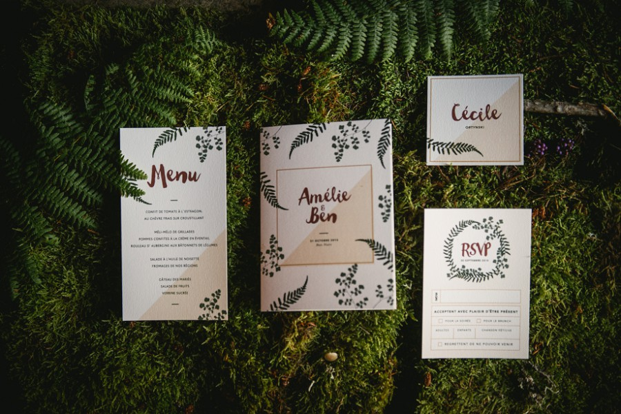 Organic wedding stationery by Nabe Fabric
