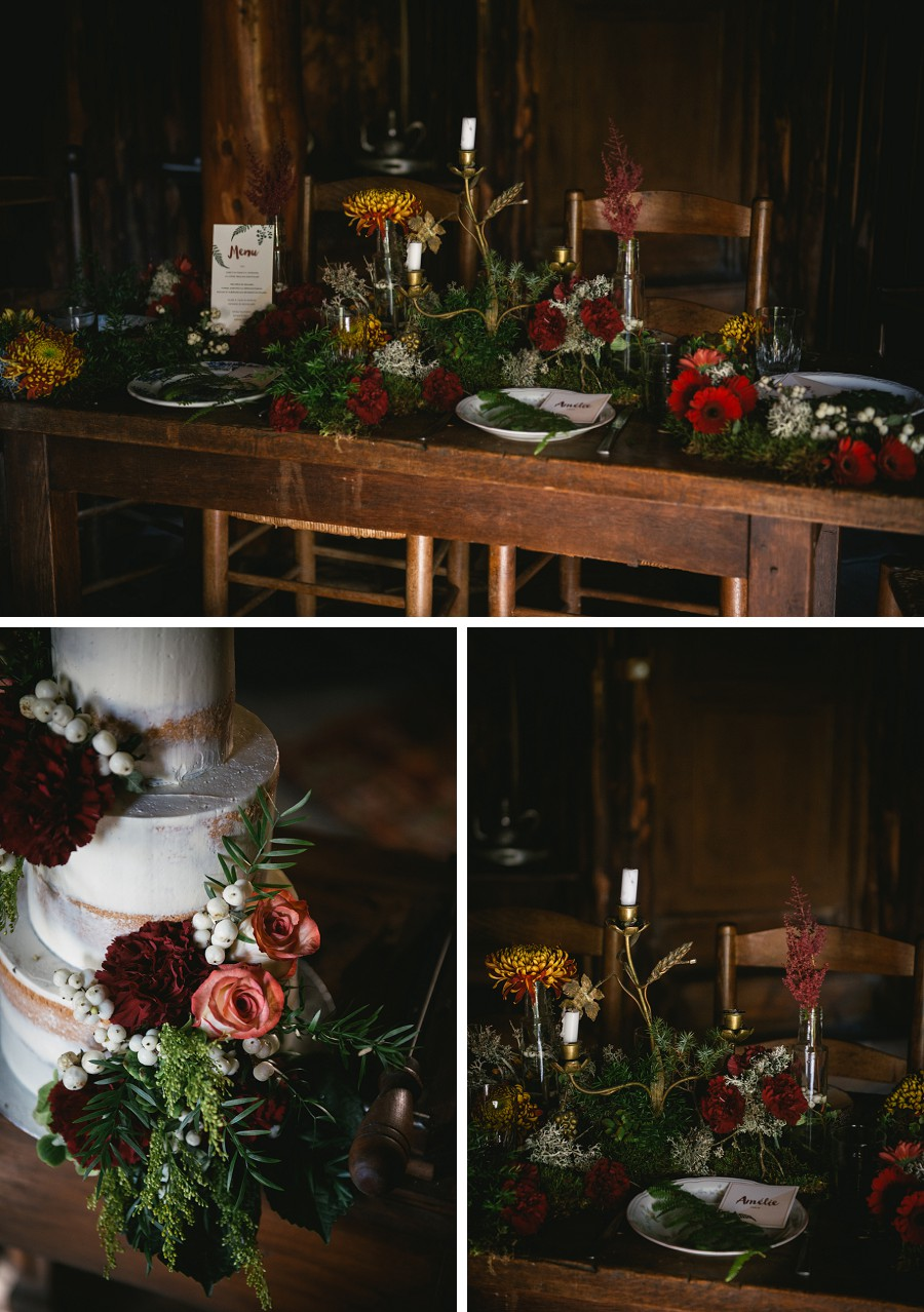 Autumn wedding table