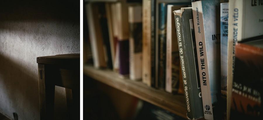 Books on a shelve