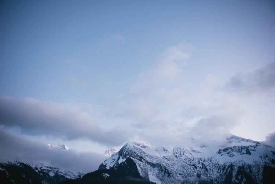 Mountain peaks in Switzerland
