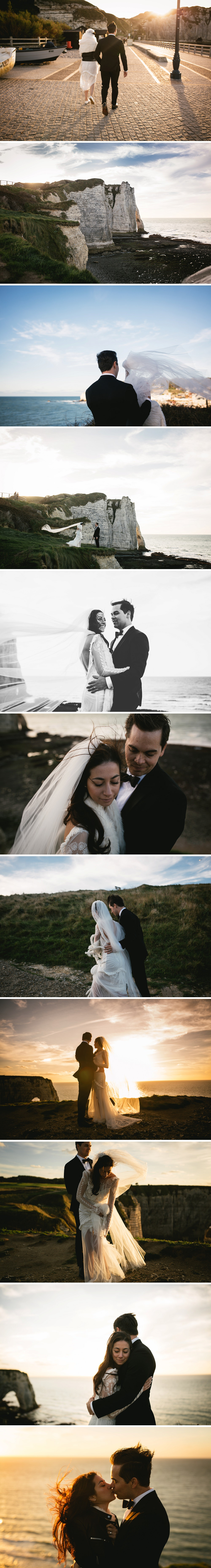 photographe de mariages à Etretat