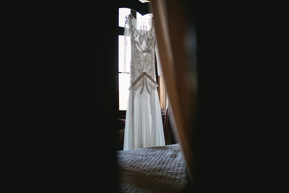 Dress Street of Seine Bridal at the Château de challain