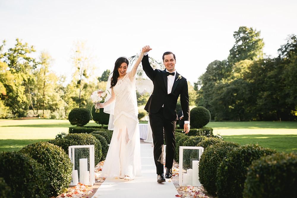 Wedding at chateau de challain / zéphyr & luna