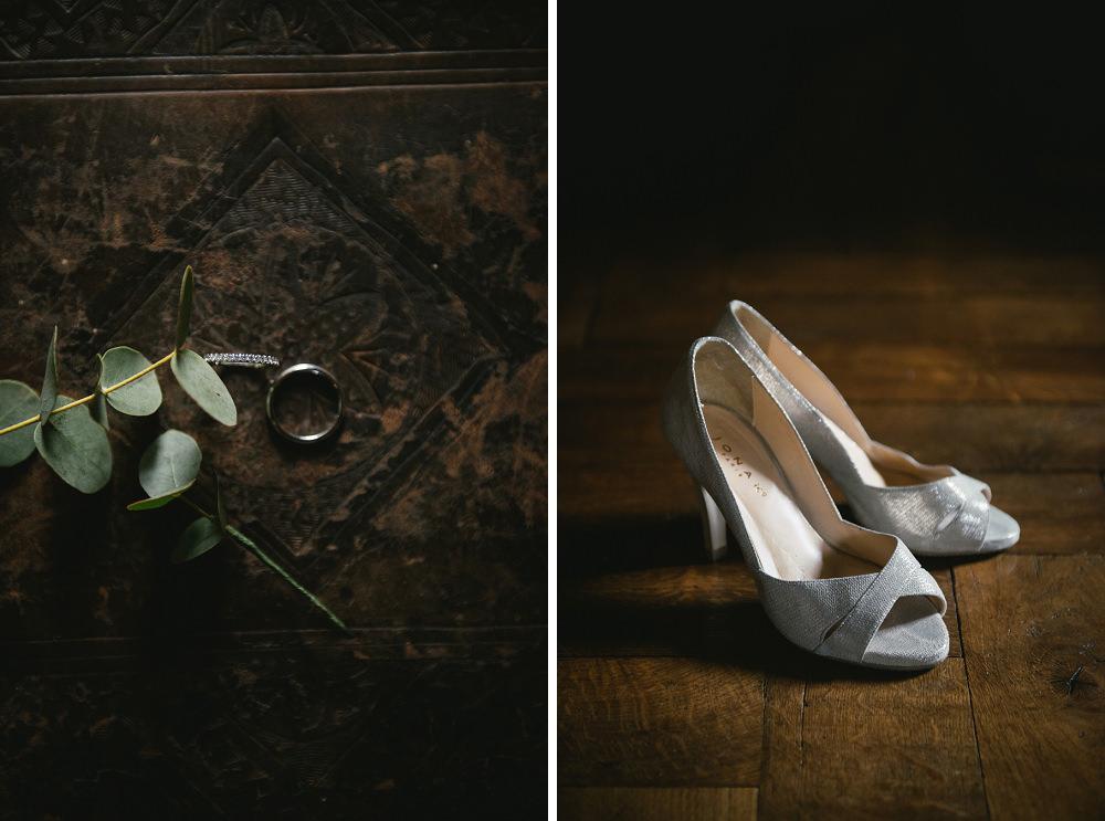 détails mariage chaussures chatau martinanches / zéphyr et luna
