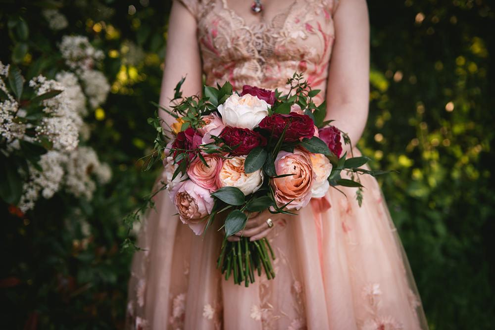 wedding bouquet chateau de vaux le vicomte / zéphyr et luna