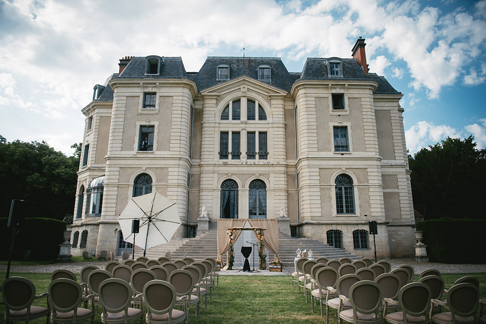 chateau caniere wedding ceremony in france / zephyr & luna