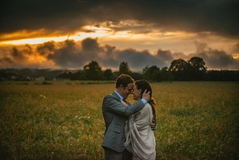 adventure elopement photographer at sunset
