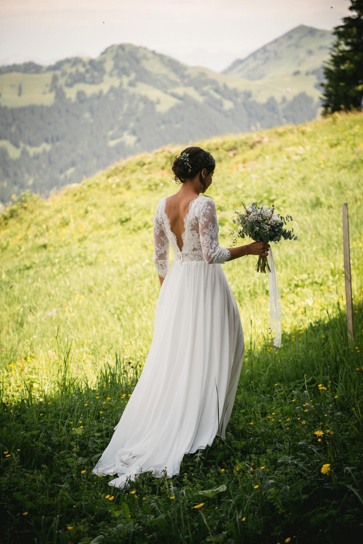 bride in switzerland