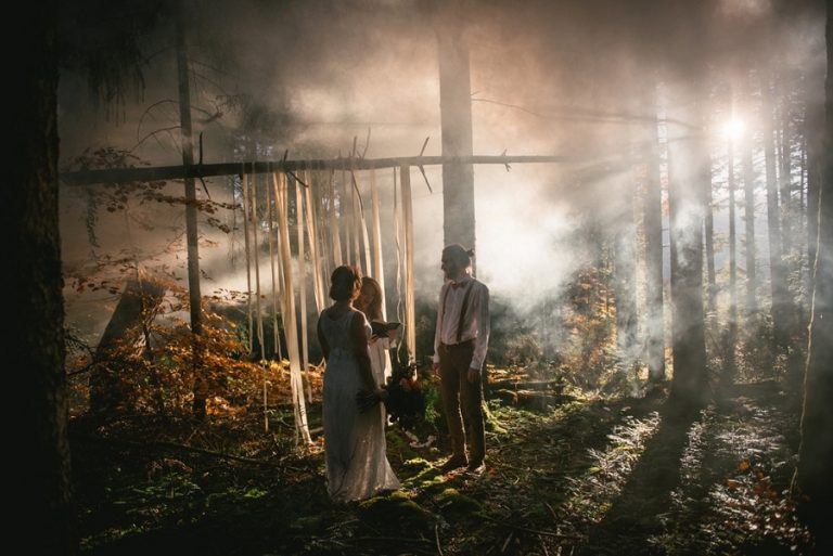 Laura & Ben – A forest elopement in the Highlands