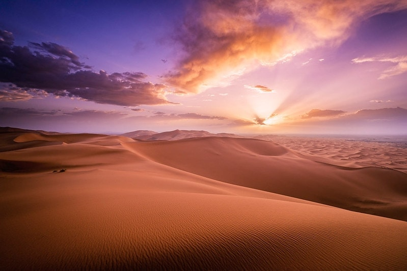 the best and most beautiful places to elope in the world - sahara desert