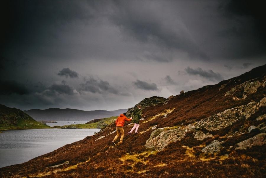 aventure de couple dans les highlands