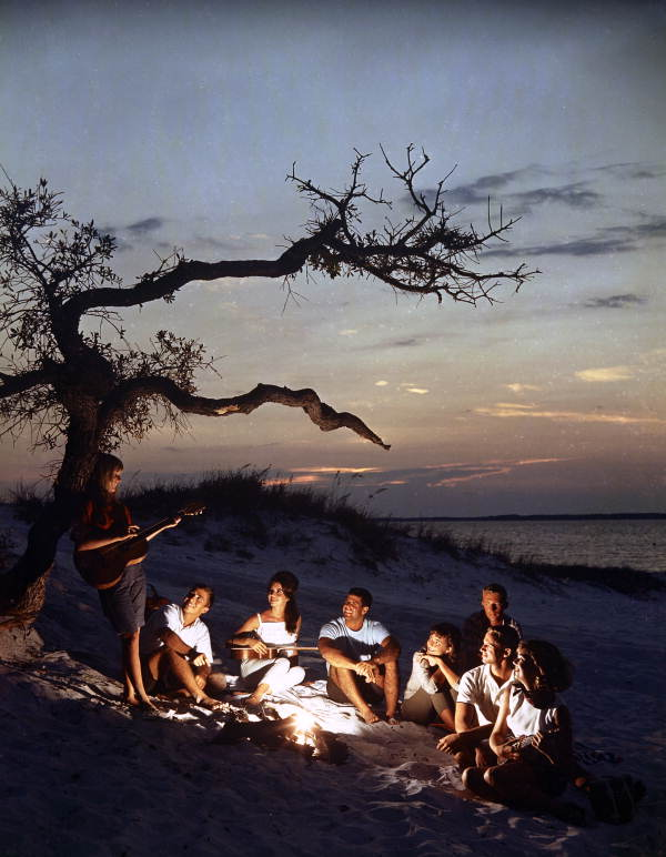 how to elope in florida - campfire on the beach