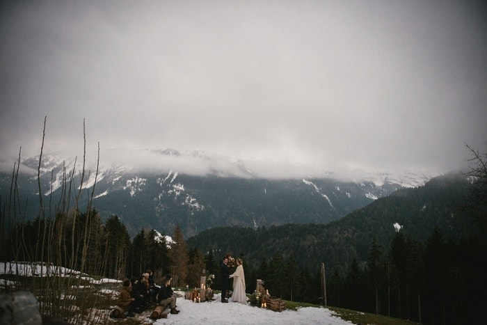 elopement in the alps, france