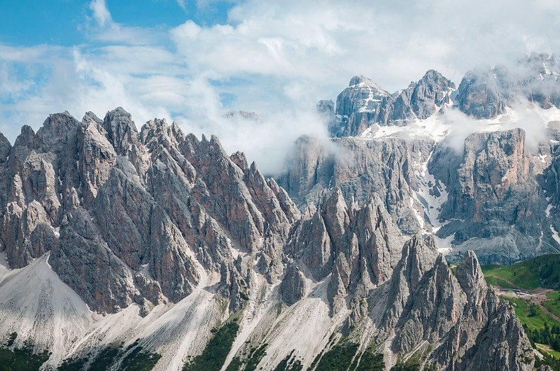 where to plan a mountain elopement - dolomites