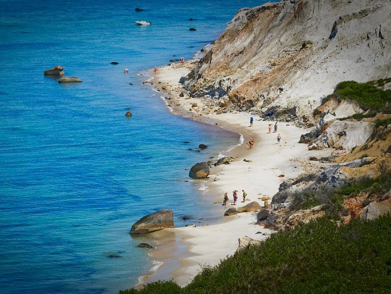 best places to elope in the us - aquinnah cliffs