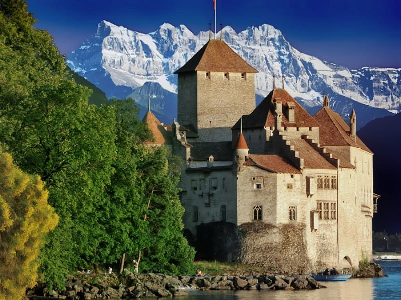 most beautiful chateau wedding in france - chateau chillon