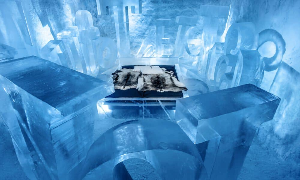 where to elope in europe - ice hotel sweden