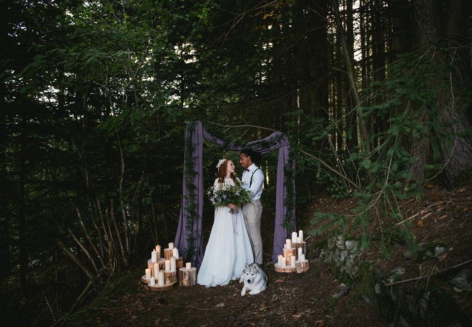 adventure elopement in the woods by photographer zephyr & luna