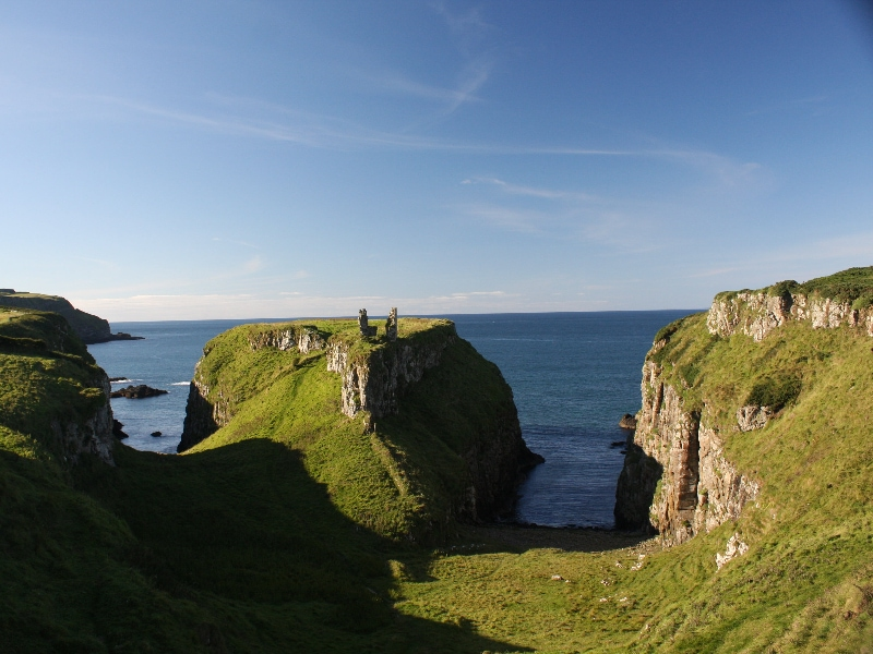 eloping in ireland, the best places - dunseverick castle
