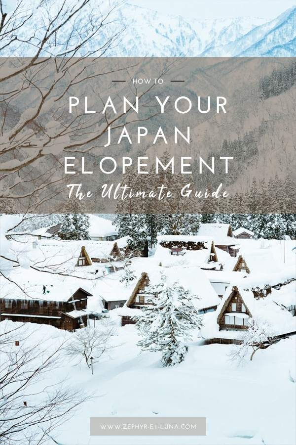 How to plan an elopement in Japan - the ultimate guide