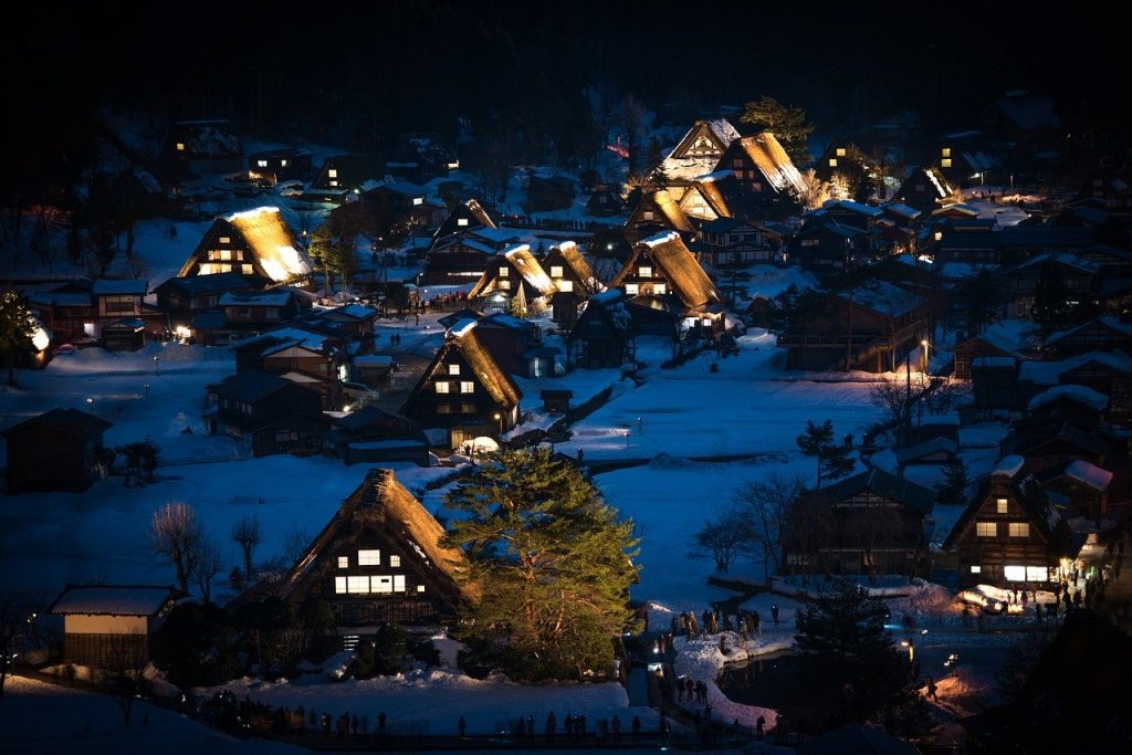 Shirakawa-go for an elopement in Japan