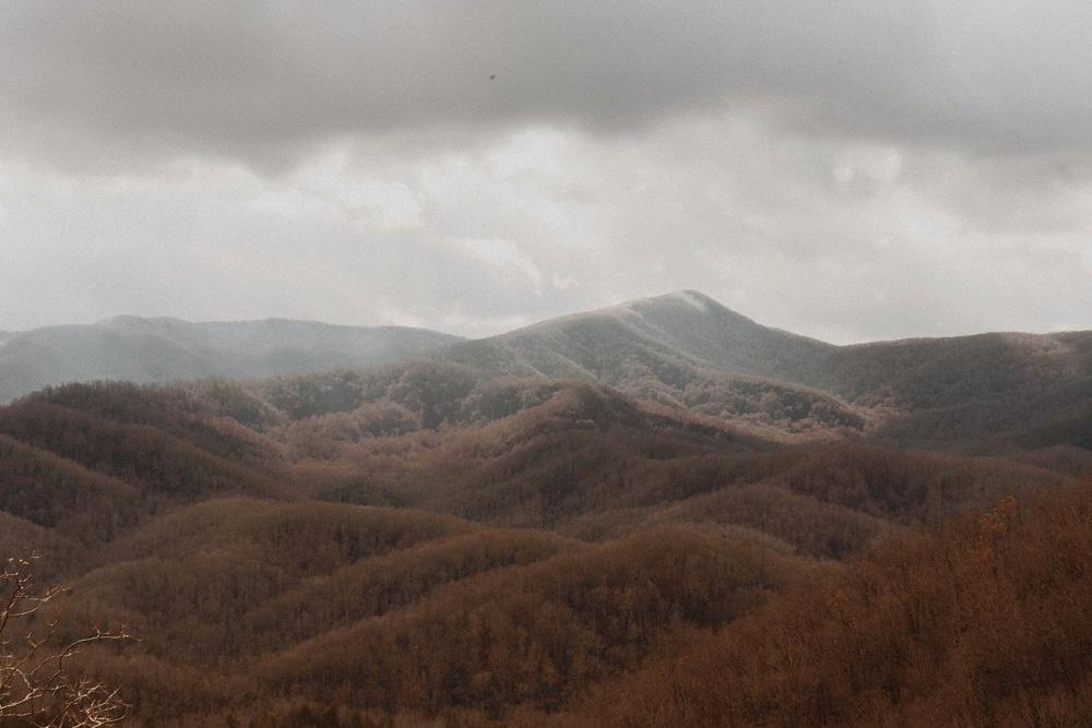 Gatlinburg view on the smoky mountains
