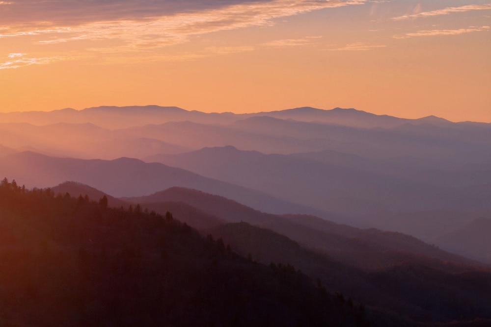 Great Smoky Mountains National Park from Gatlinburg