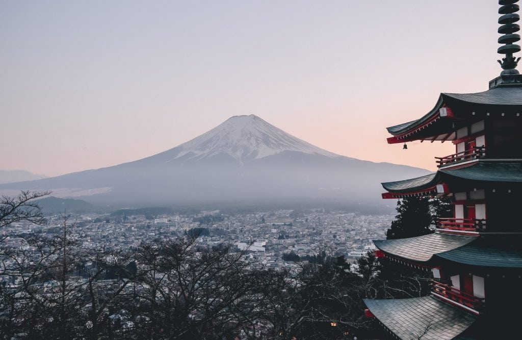 Mount Fuji elopement in Japan