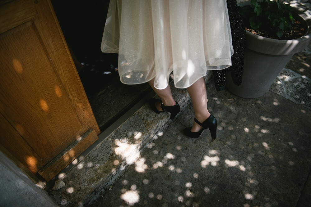 Shoes for an elopement in new orleans