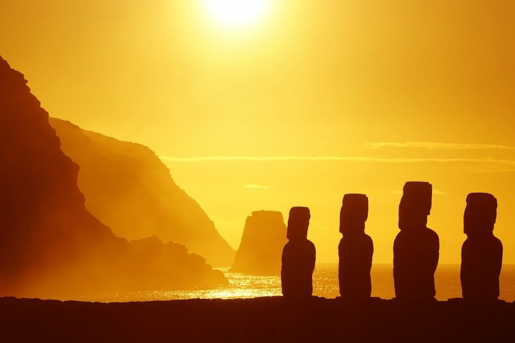 Adventure elopement idea: trek on the Easter Island