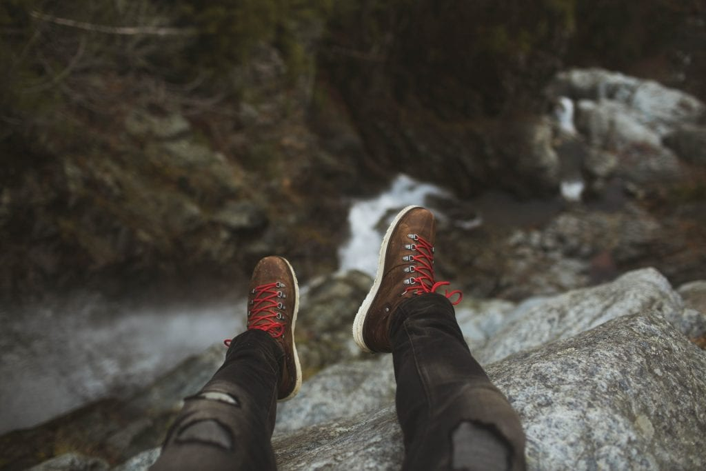 What to wear for an elopement in Spain - hiking shoes