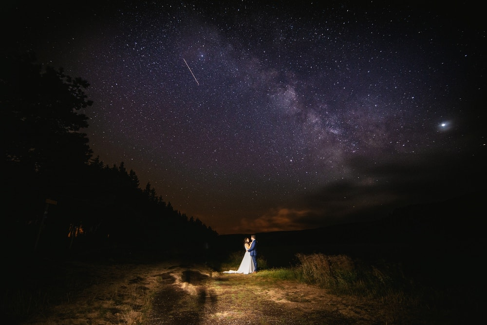 Elopement idea - elopement under the stars