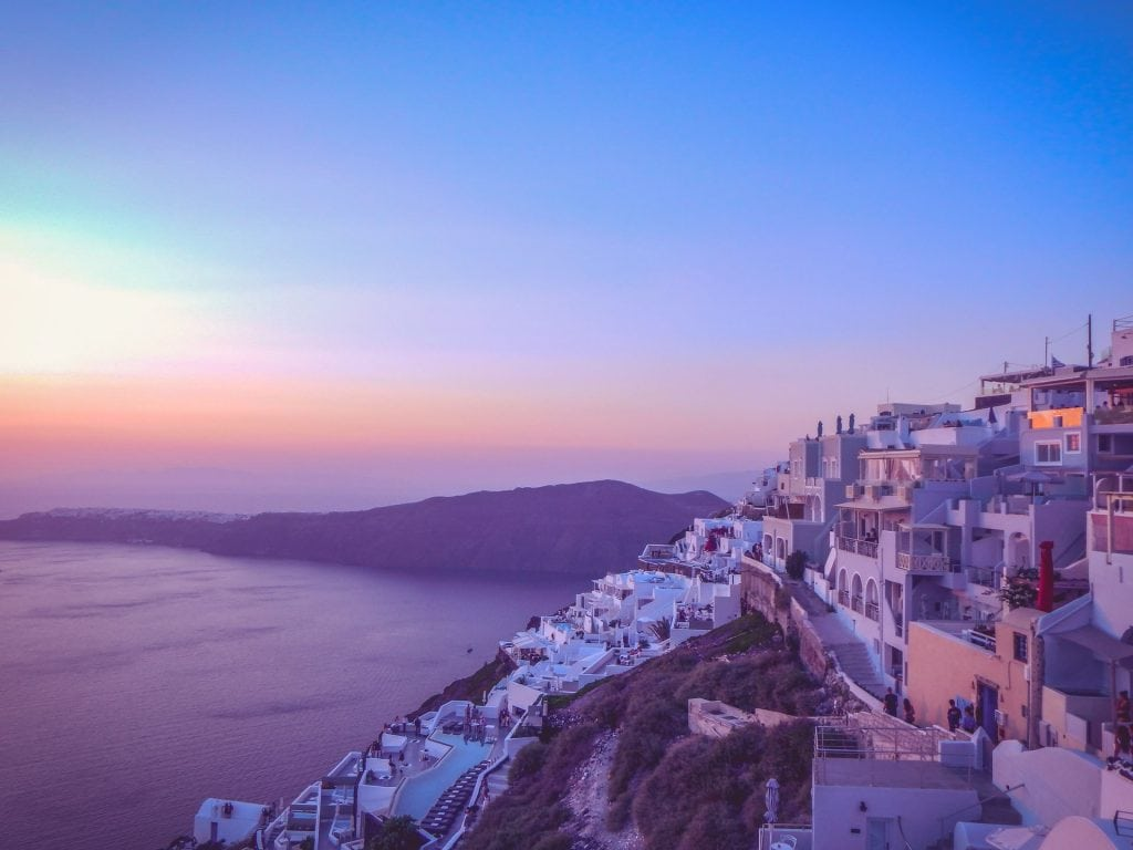 When to elope in Santorini - spring and fall
