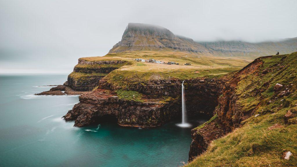 Where to elope in the Faroe Islands - Bøssdalafossur Waterfall