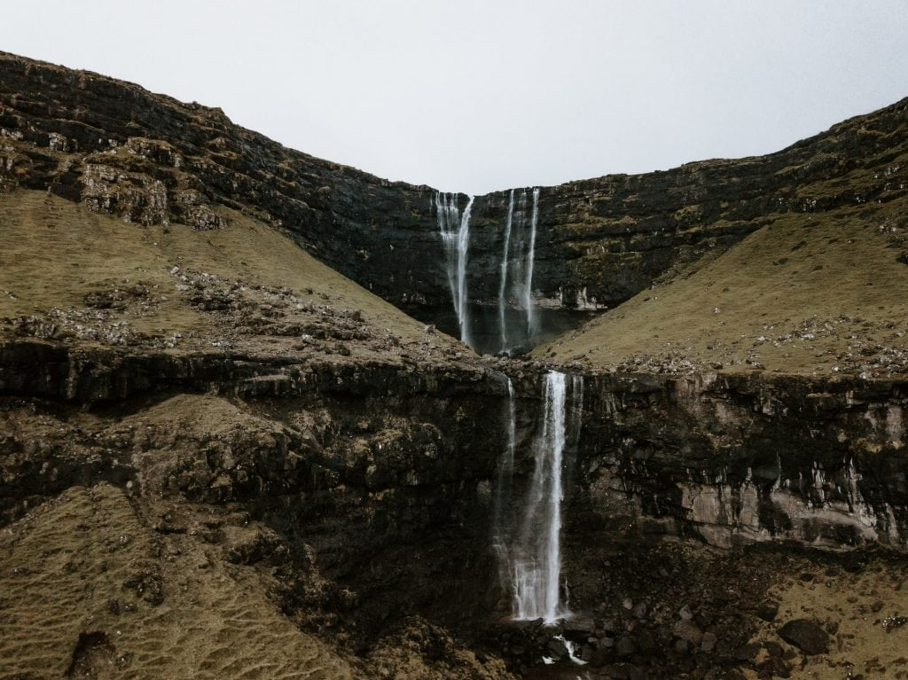 Where to elope in the Faroe Islands - Fossa Waterfall