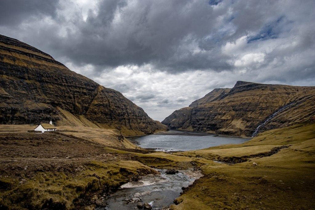 Where to elope in the Faroe Islands - Saksun Church