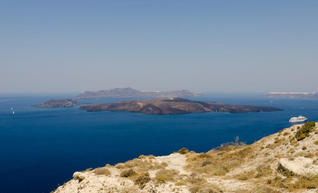 Where to elope in Santorini - Nea Kameni
