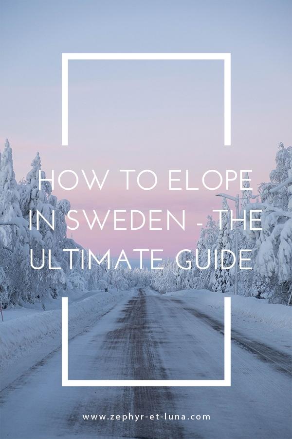 How to elope in Sweden