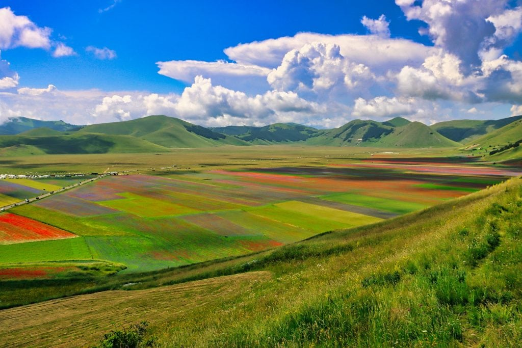 best places when eloping in Italy - Castelluccio di Norcia