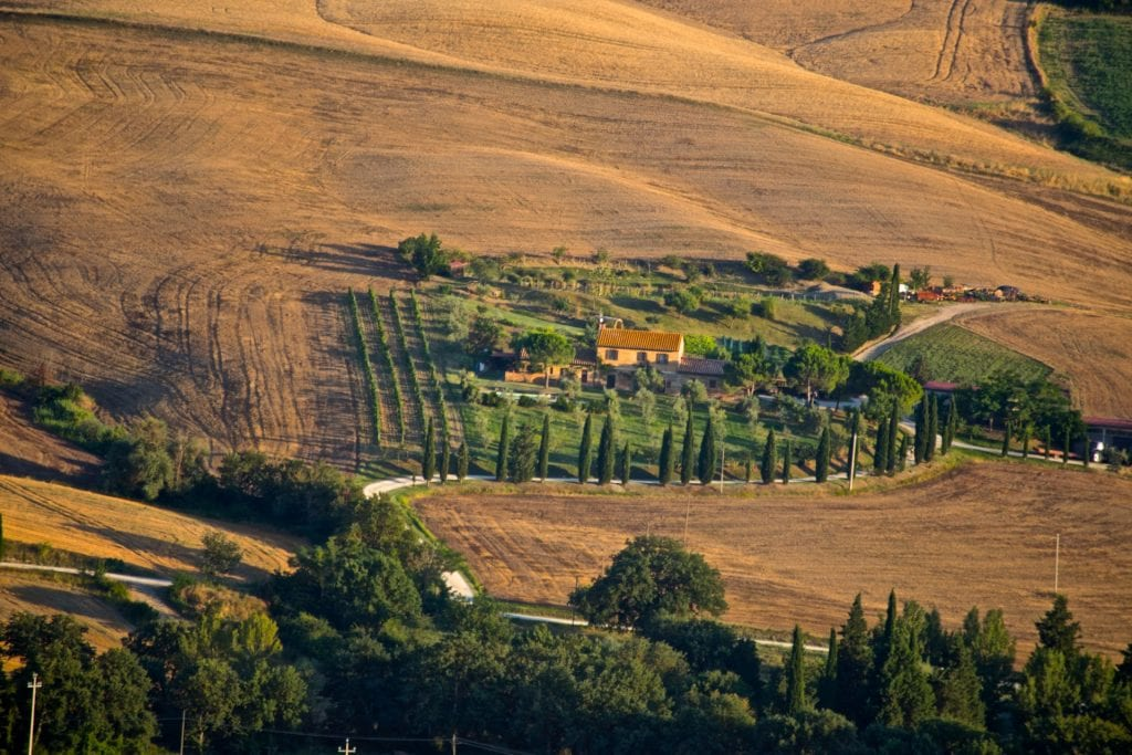 best places when eloping in Italy - Val d'Orcia
