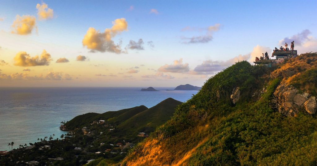 hikes for an Hawaii elopement - Lanikai Pillbox