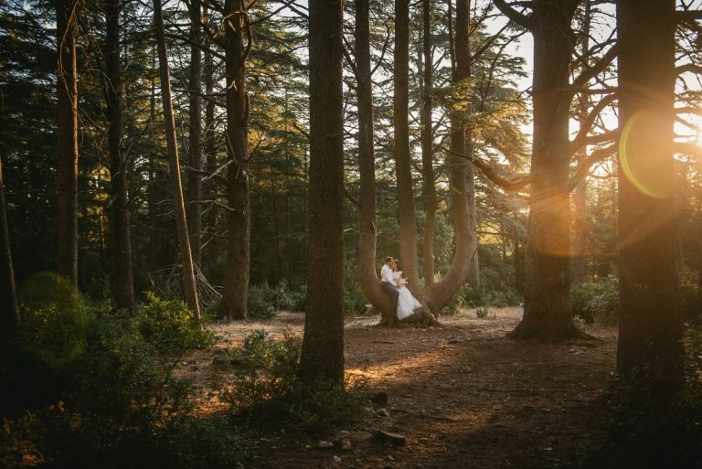 A beautiful sunrise post-wedding session in Provence