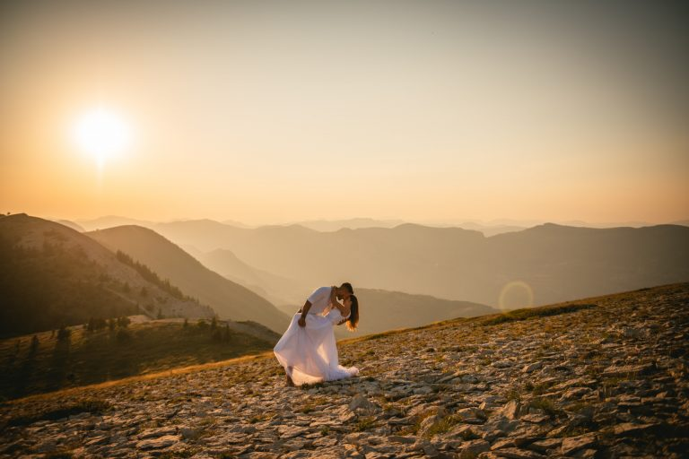 A post-wedding session in the lavender fields